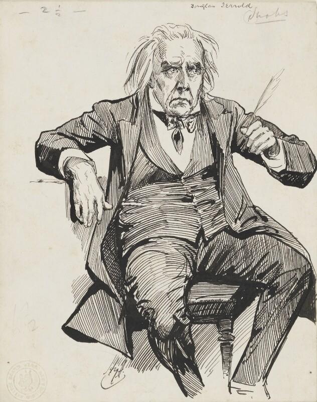 Douglas William Jerrold, by Harry Furniss,  - NPG 6251(30) - © National Portrait Gallery, London