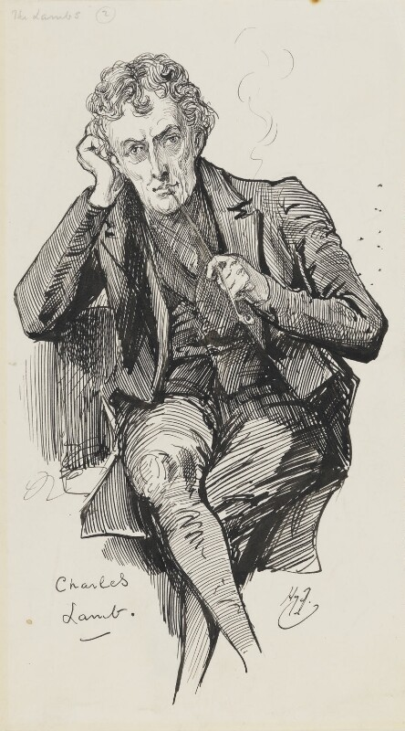 Charles Lamb, by Harry Furniss,  - NPG 6251(34) - © National Portrait Gallery, London