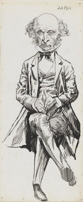 John Stuart Mill, by Harry Furniss,  - NPG 6251(40) - © National Portrait Gallery, London