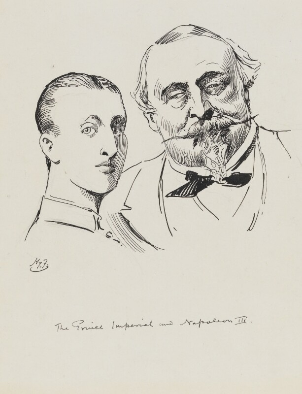 Napoléon, Prince Imperial; Napoléon III, Emperor of France, by Harry Furniss,  - NPG 6251(43) - © National Portrait Gallery, London