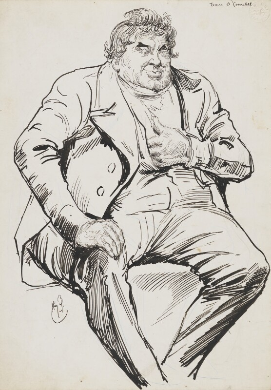 Daniel O'Connell, by Harry Furniss,  - NPG 6251(44) - © National Portrait Gallery, London