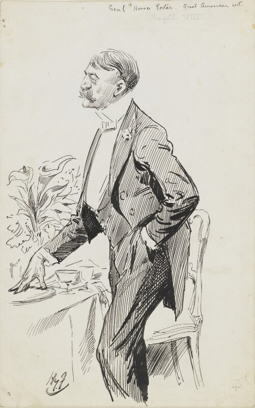 Horace Porter, by Harry Furniss,  - NPG 6251(49) - © National Portrait Gallery, London