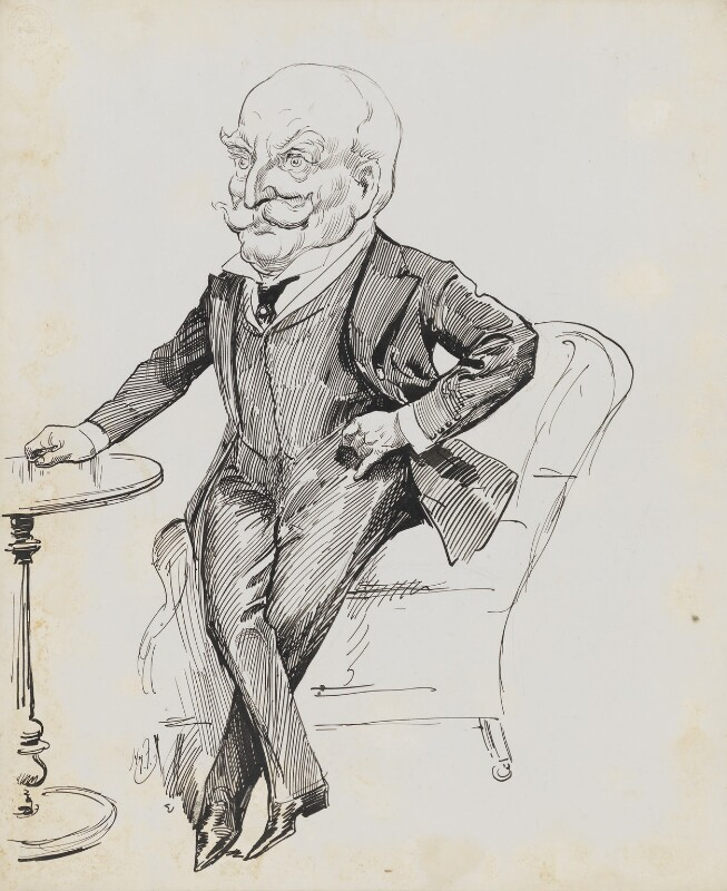 Sir Milsom Rees, by Harry Furniss, circa 1923 -NPG 6251(50) - © National Portrait Gallery, London