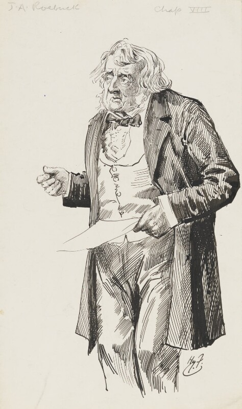 John Arthur Roebuck, by Harry Furniss,  - NPG 6251(51) - © National Portrait Gallery, London