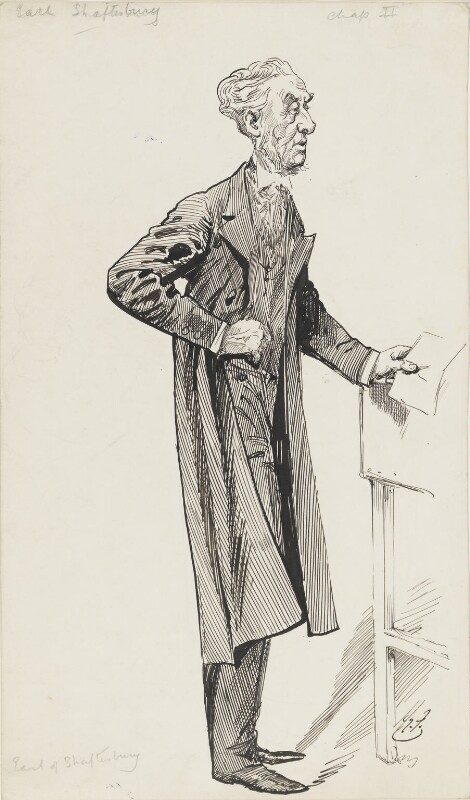 Anthony Ashley-Cooper, 7th Earl of Shaftesbury, by Harry Furniss,  - NPG 6251(56) - © National Portrait Gallery, London