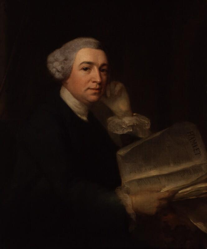 David Garrick, by Benjamin Wilson, circa 1752-1755 - NPG 6249 - © National Portrait Gallery, London
