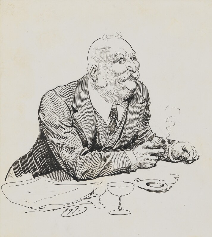 William Knox D'Arcy, by Harry Furniss,  - NPG 6251(14) - © National Portrait Gallery, London