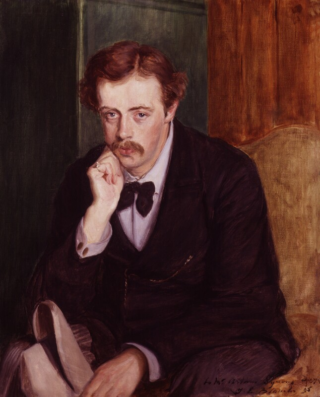 Arthur William Symons, by Jacques-Emile Blanche, 1895 - NPG L135 - © DACS; Tate 2018; on loan to the National Portrait Gallery, London