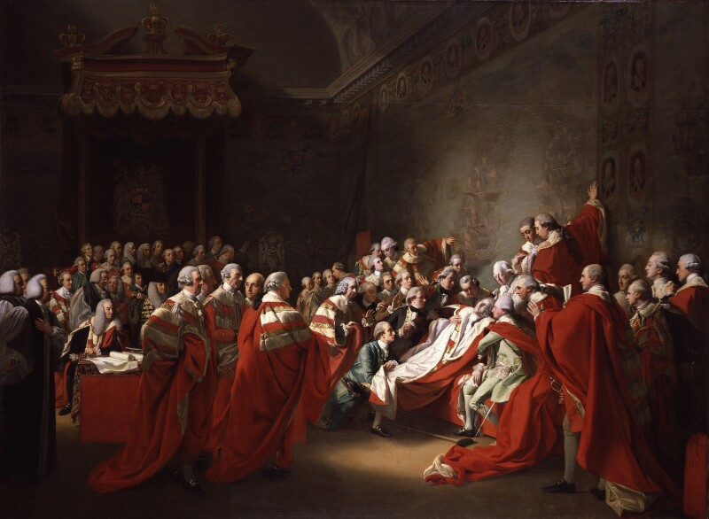 The Death of the Earl of Chatham, by John Singleton Copley, 1779-1781 - NPG L146 - Tate 2018; on loan to the National Portrait Gallery, London