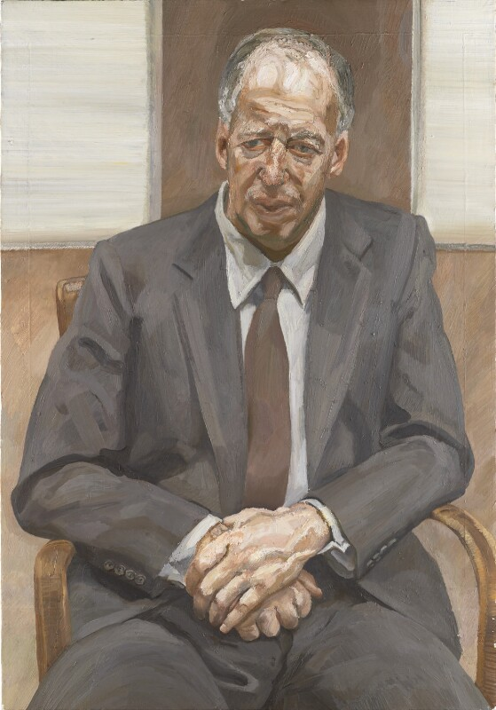 Jacob Rothschild, 4th Baron Rothschild ('Man in a Chair'), by Lucian Freud, 1989 - NPG L201 - © The Lucian Freud Archive / Bridgeman Images