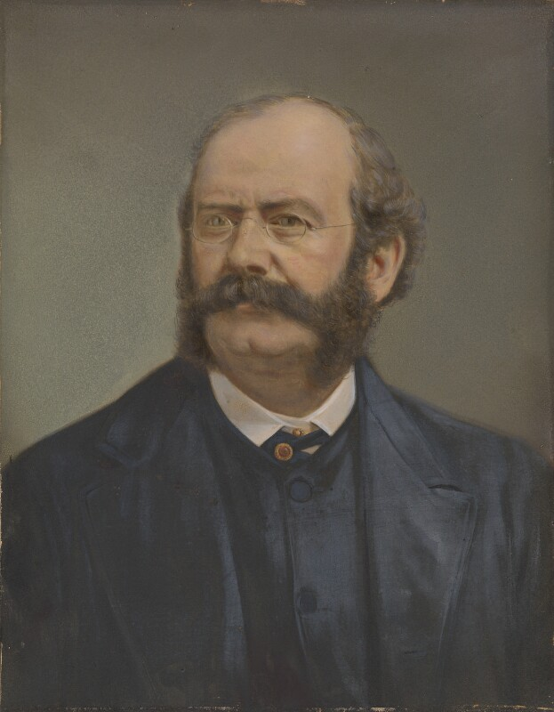 William Burges, by Henry Van der Weyde, circa 1878-1881 -NPG P552 - © National Portrait Gallery, London