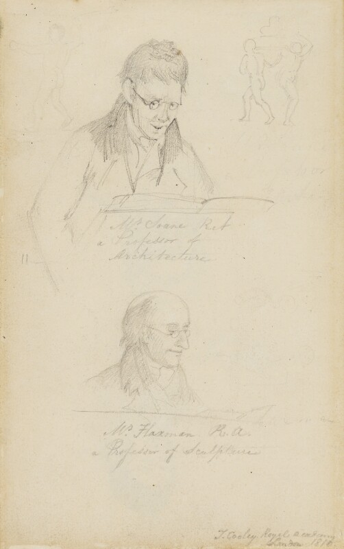 Sir John Soane; John Flaxman, by Thomas Cooley, 1810 - NPG 4913b - © National Portrait Gallery, London