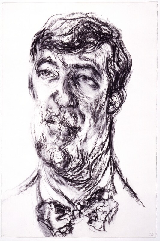 Stephen Fry, by Maggi Hambling, 1993 - NPG 6323 - © National Portrait Gallery, London