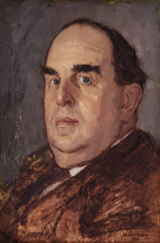 Robert Morley, by Michael Noakes, 1964 - NPG 6341 - © Michael Noakes / National Portrait Gallery, London