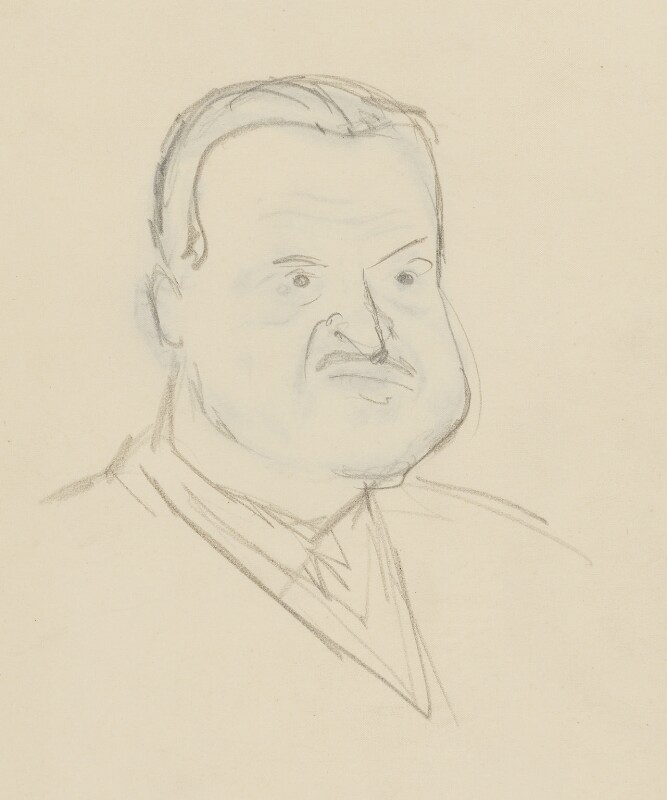 Somerset Maugham, by Sir David Low, 1933 or before - NPG 4529(240a) - © Solo Syndication Ltd
