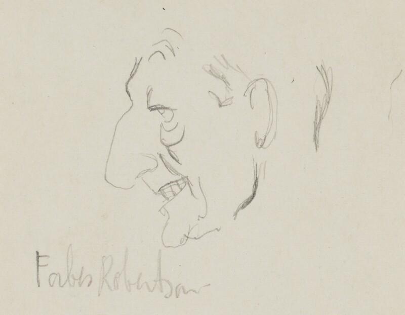 Sir Johnston Forbes-Robertson, by Sir David Low, circa 1920s-1937 - NPG 4529(307a) - © Solo Syndication Ltd