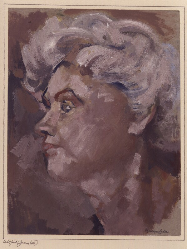 Jennie Lee, by Montague Leder, 1950s? - NPG 6348 - © reserved; collection National Portrait Gallery, London