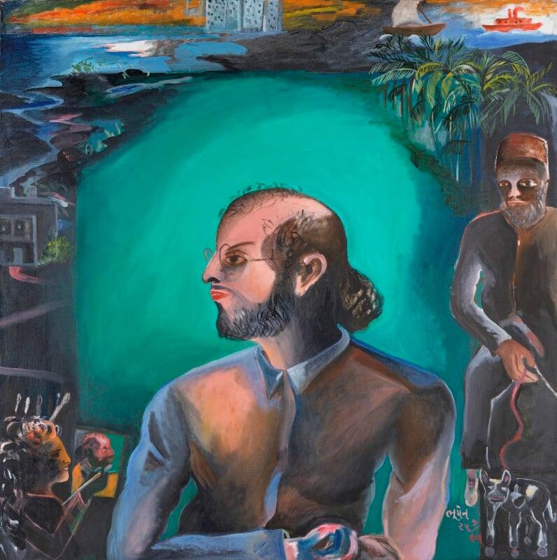 Salman Rushdie ('The Moor'), by Bhupen Khakhar, 1995 - NPG 6352 - © estate of Bhupen Khakhar