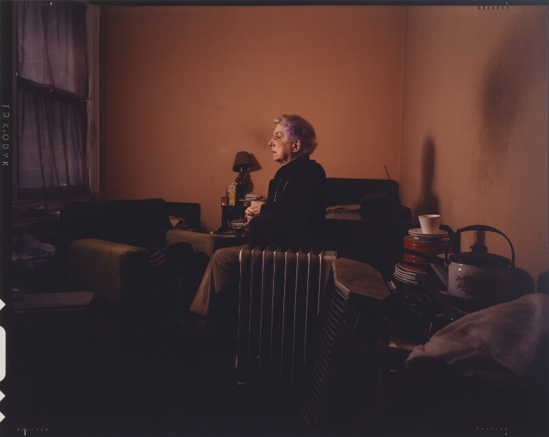 Quentin Crisp, by David Gamble, 1986 - NPG P631 - © David Gamble