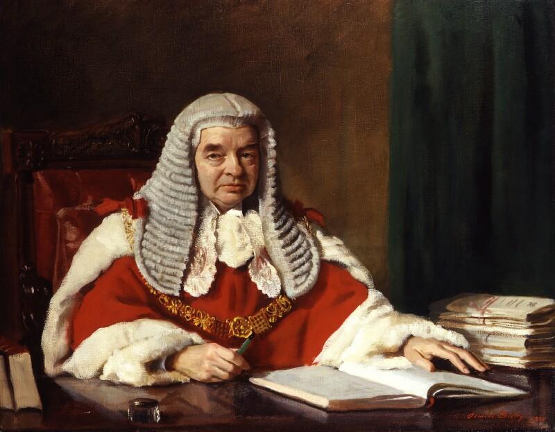 Gordon Hewart, 1st Viscount Hewart, by Sir Oswald Birley, 1935 - NPG 6354 - © National Portrait Gallery, London