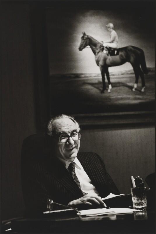 Arnold Weinstock, Baron Weinstock, by Sue Adler, 1989 - NPG P656 - © National Portrait Gallery, London