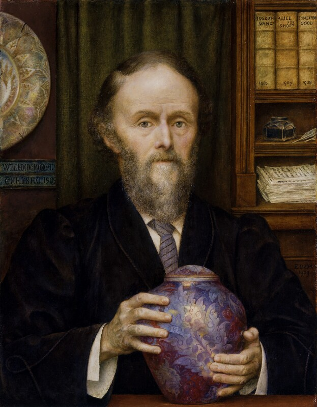 William De Morgan, by Evelyn De Morgan, 1909 - NPG 6358 - © National Portrait Gallery, London