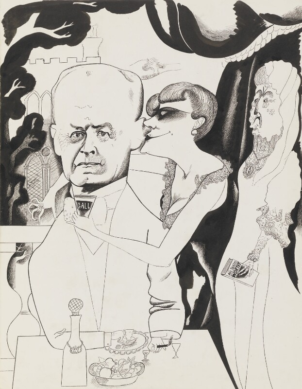 John Galsworthy, by Edward Burra, 1932 - NPG 6368 - © estate of Edward Burra