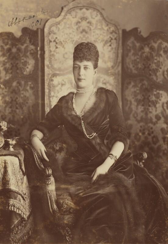 Queen Alexandra, by Lafayette, 1901 - NPG P659 - © National Portrait Gallery, London