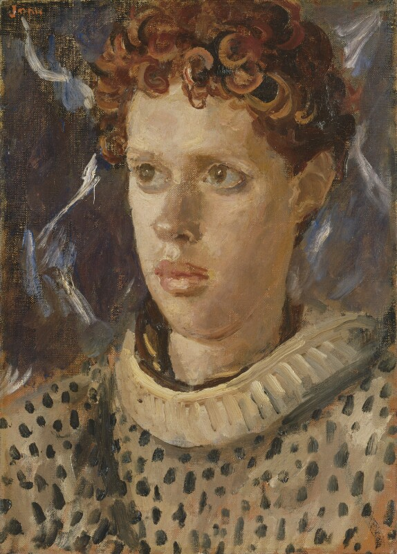 Dylan Thomas, by Augustus Edwin John, circa 1937-1938 - NPG L213 - © estate of Augustus John / Bridgeman Art Library www.bridgemanart.com; private collection; on loan to the National Portrait Gallery, London