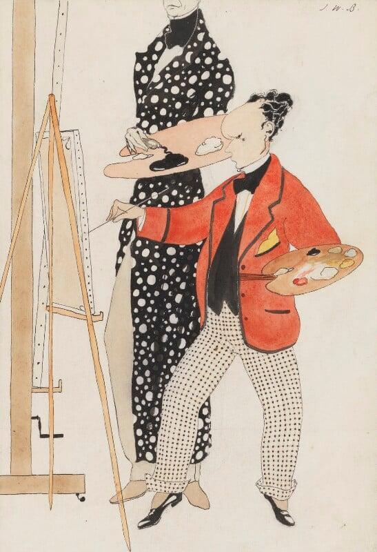 William Nicholson; Ben Nicholson, by Unknown artist, circa 1916 - NPG 6379 - © National Portrait Gallery, London