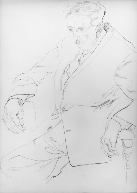 E.M. Forster, by Don Bachardy, 1961 - NPG 6383 - © Don Bachardy