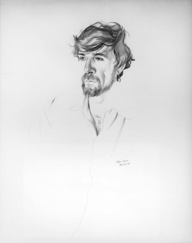 Thom Gunn, by Don Bachardy, 1996 - NPG 6384 - © Don Bachardy