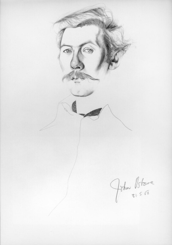 John Osborne, by Don Bachardy, 1968 - NPG 6385 - © Don Bachardy