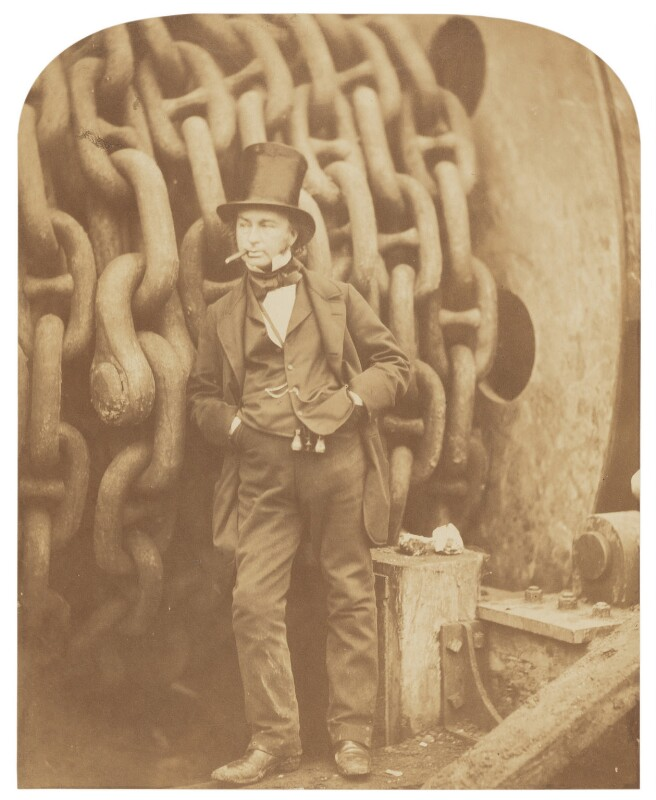 Isambard Kingdom Brunel, by Robert Howlett, November 1857 - NPG P662 - © National Portrait Gallery, London