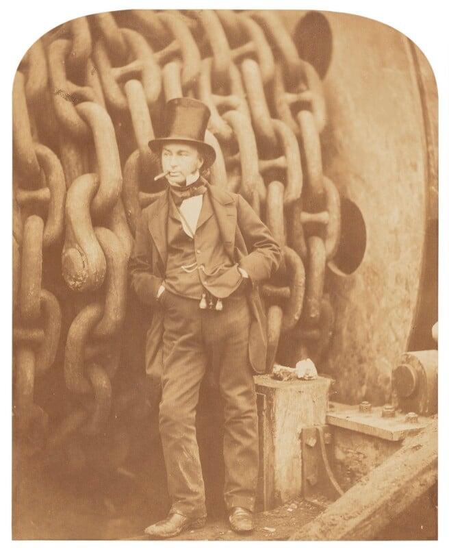 Isambard Kingdom Brunel, by Robert Howlett, November 1857 - NPG P662 - © National Portrait Gallery, London