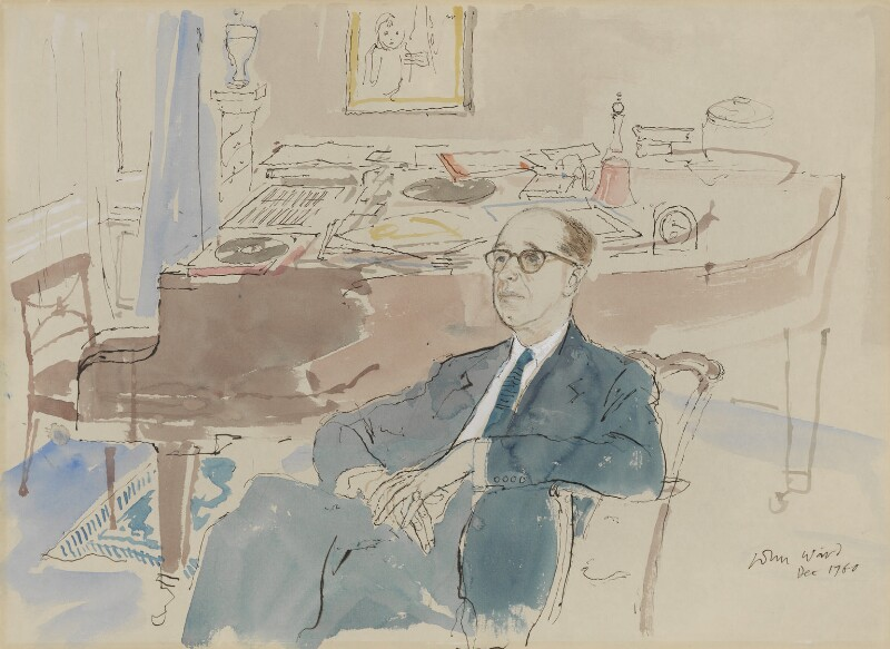 Richard Addinsell, by John Stanton Ward, 1960 - NPG 6391 - © estate of John Ward
