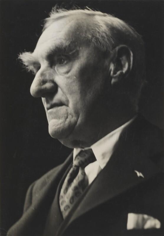 John Boyd Orr, Baron Boyd Orr, by Lida Moser, 1949 - NPG P698 - © Lida Moser