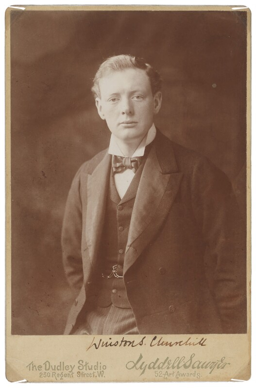 Winston Churchill, by Edward Lyddell Sawyer, 1901 - NPG P705 - © National Portrait Gallery, London