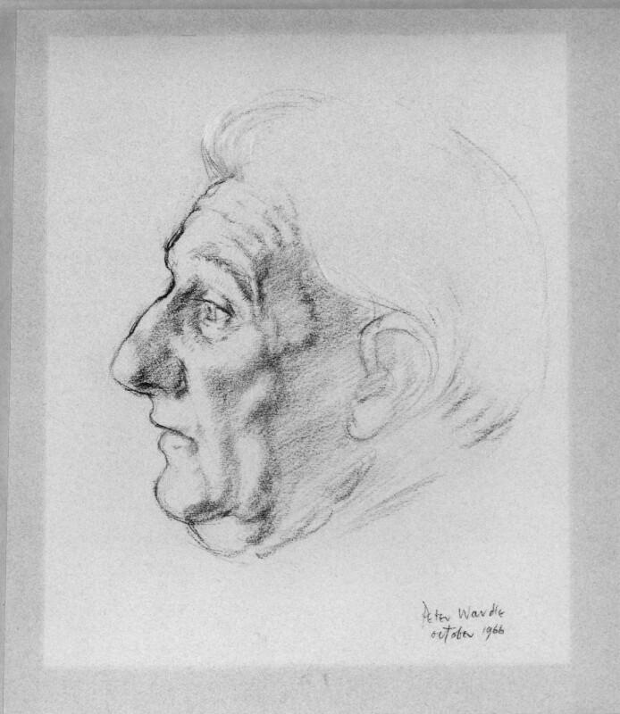 Edmund Blunden, by Peter Wardle, 1966 - NPG 6406 - © National Portrait Gallery, London