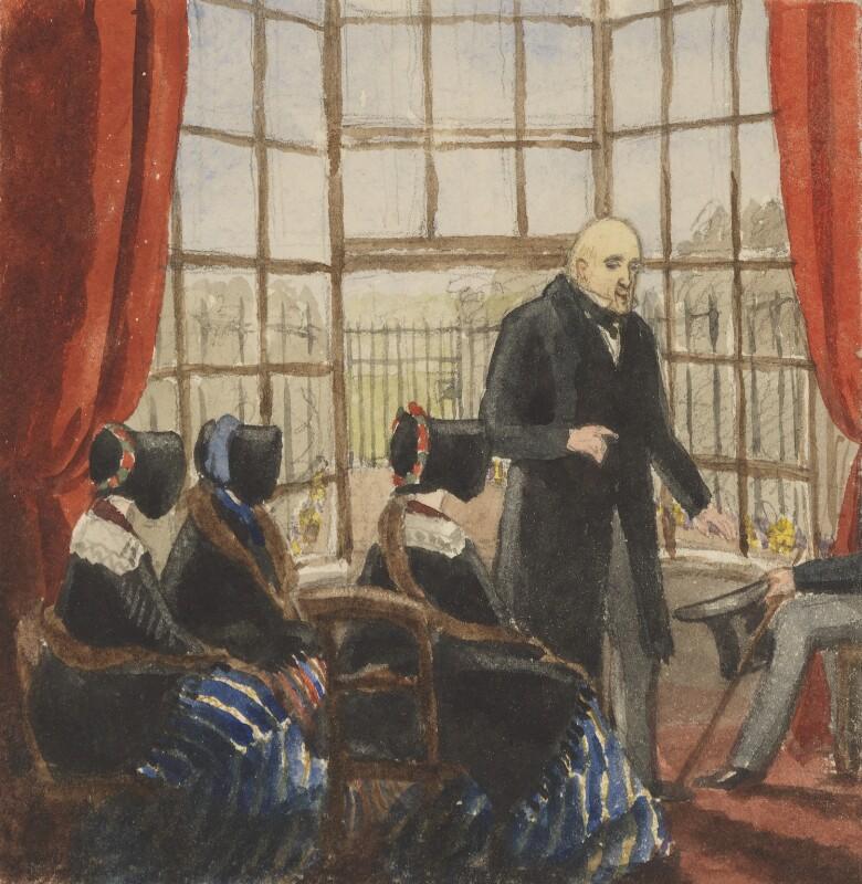 Breakfast at Mr Rogers, by Jemima Blackburn (née Wedderburn), 1833-1857 -NPG 2772(28b) - © National Portrait Gallery, London
