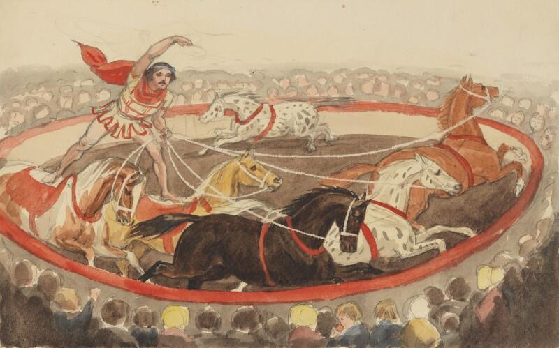 Henri Adolphe Franconi, by Jemima Blackburn (née Wedderburn), 1844 - NPG 2772(31b) - © National Portrait Gallery, London
