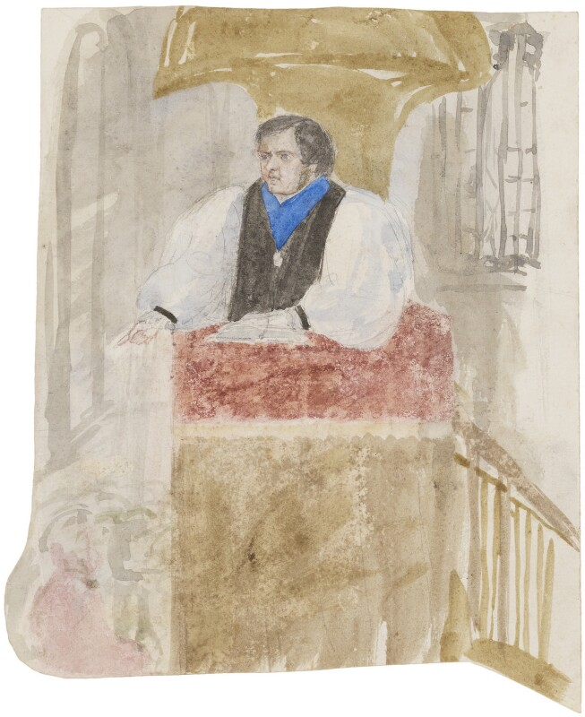 Samuel Wilberforce, by Clara Pusey, circa 1856 - NPG 4541(11a) - © National Portrait Gallery, London