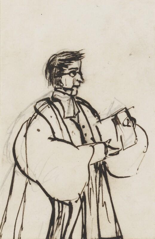 Edward Bouverie Pusey, by Clara Pusey, circa 1856 -NPG 4541(7b) - © National Portrait Gallery, London