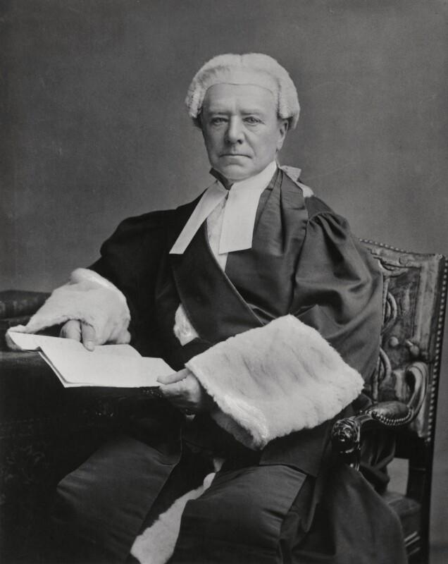Henry Hawkins, Baron Brampton, by Elliott & Fry, 1884 - NPG x89660 - © National Portrait Gallery, London