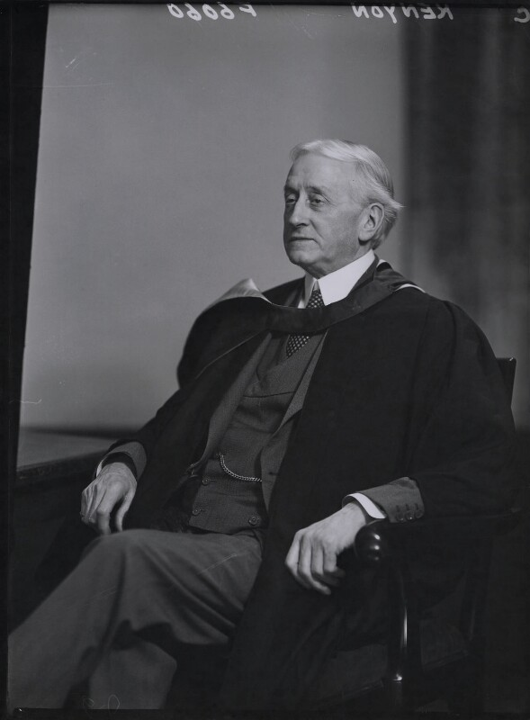 Sir Harold Vaughan Kenyon, by Elliott & Fry, 27 March 1945 - NPG x90104 - © National Portrait Gallery, London