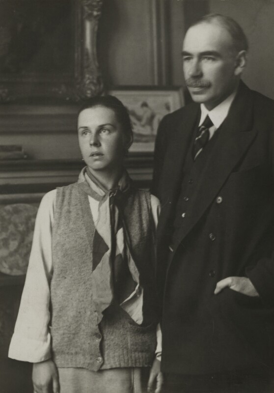 John Maynard Keynes, 1st Baron Keynes of Tilton; Lydia Lopokova, by Walter Benington, for  Elliott & Fry, 1920s - NPG x90117 - © National Portrait Gallery, London