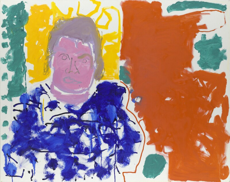 A.S. Byatt (Portrait of A S Byatt : Red, Yellow, Green and Blue : 24 September 1997), by Patrick Heron, 1997 - NPG 6414 - © Estate of Patrick Heron/ DACS, 2018