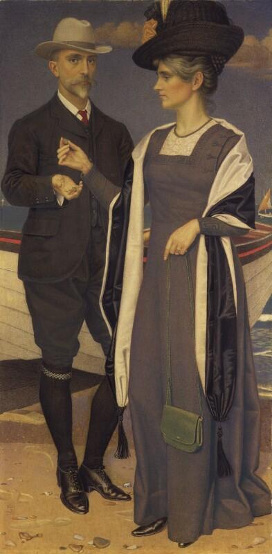 Joseph Edward Southall; Anna Elizabeth Southall, by Joseph Edward Southall, 1911 - NPG 7020 - © National Portrait Gallery, London
