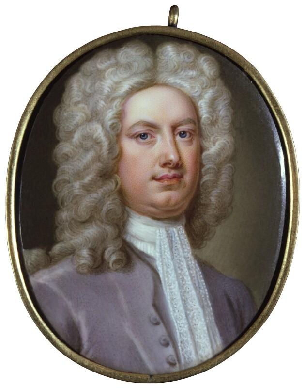 Horatio Walpole, 1st Baron Walpole of Wolterton, by Christian Friedrich Zincke, circa 1720-1725 - NPG 6417 - © National Portrait Gallery, London