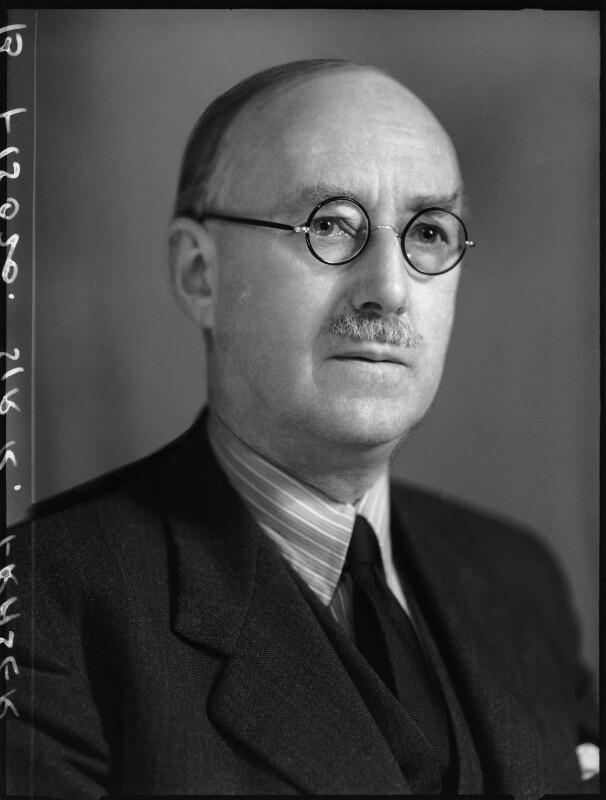 Sir (William) Robert Fraser, by Elliott & Fry, 31 March 1952 - NPG x100486 - © National Portrait Gallery, London